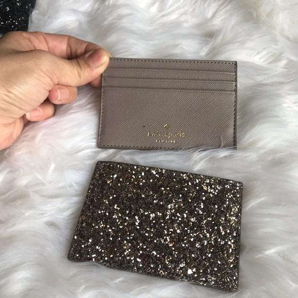 kate spade Handbags - Kate Spade glitter ID holder last one ❗️